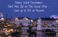 Disney World Passholders: Don't Miss Out on This Great Offer - Save up to 30% on Resorts!