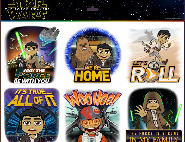 The new Star Wars: The Force Awakens theme pack is available for free ...: chipandco.com/star-wars-the-force-awakens-comes-to-bitmoji-224003