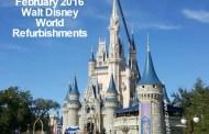 February 2016 Walt Disney World Resort Refurbishment Schedule