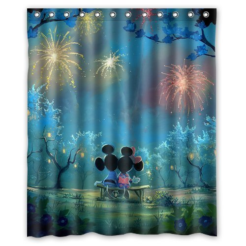 Mickey And Minnie Mouse Shower Curtain