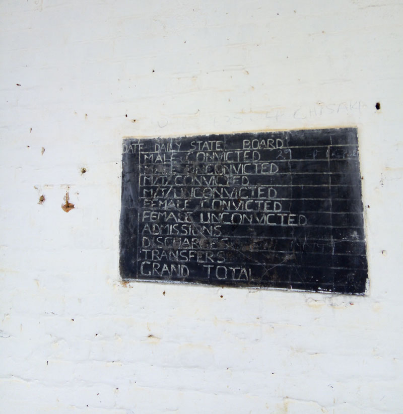 Mbala Old Prison - Daily Stat Board