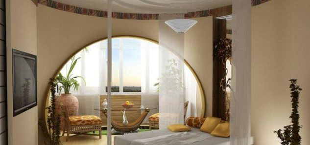 romantic-bedroom-ideas-with-decorative-gypsum-board-ceiling-using-white-sheer-curtain-and-beige-interior-color-633x447