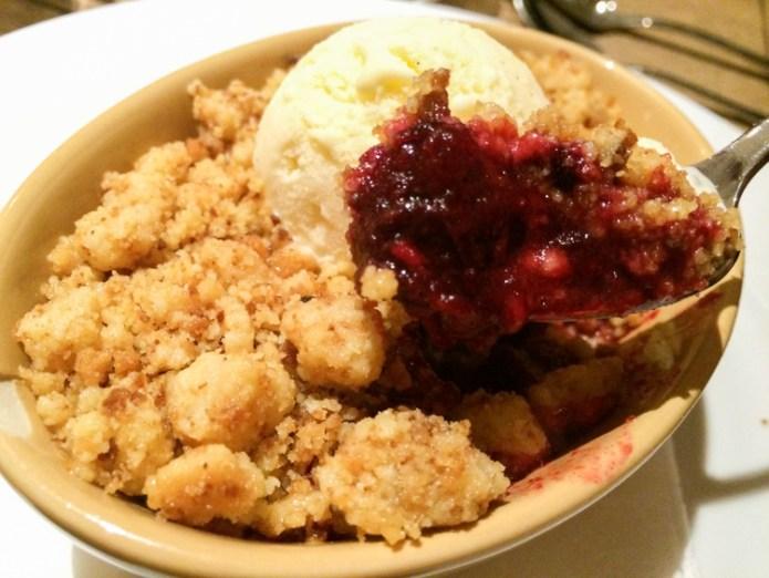 Red Fruit Crumble with Vanilla Ice cream