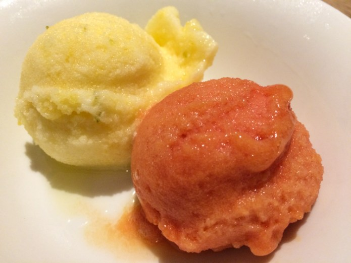 Lemonade Passionfruit and Lime and Blood Orange Sorbet