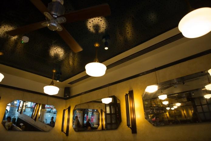Cosy diner-style interior