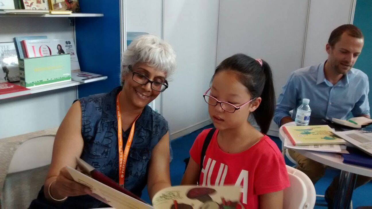 In China at the Book fair