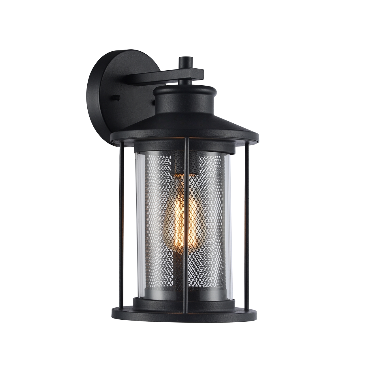 Posh Outdoor Wall Sconce Chloe Inc Chloe Lighting Crichton Transitional Black Outdoor Wall Sconce Light Sensor Outdoor Wall Sconce Light Fixture houzz-02 Outdoor Wall Sconce