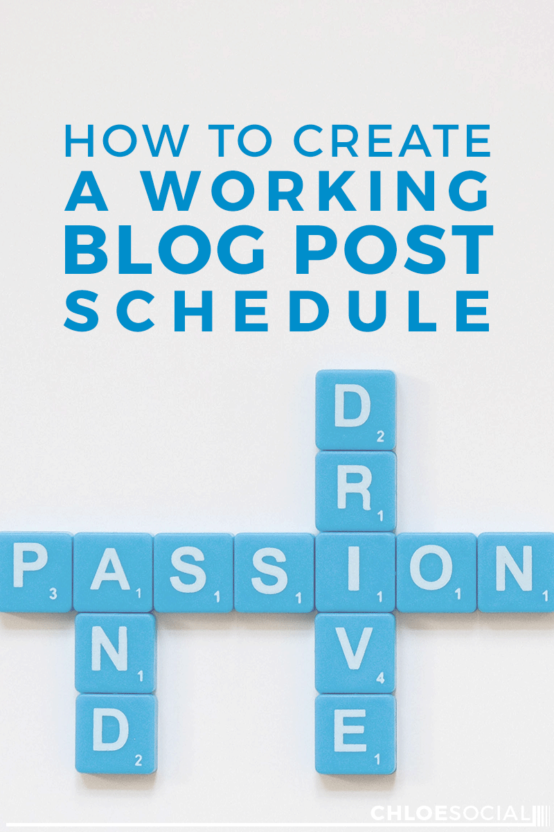 How to Create a Working Blog Post Schedule