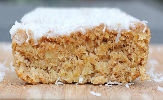 Soft and luxurious family-favorite recipe. Whenever we don't know what to have for breakfast, we'll make this recipe! It is highly recommended! http://chocolatecoveredkatie.com/2012/04/11/big-fat-coconut-breakfast-cake-2/