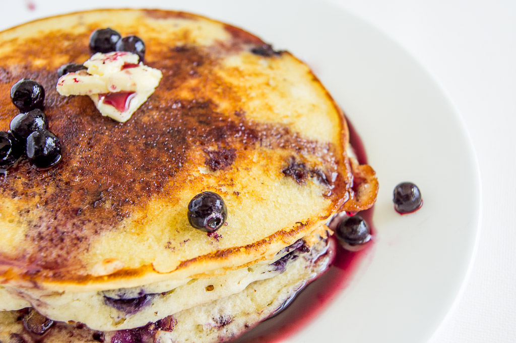 Blueberry Buttermilk Pancakes - Chocolates & Chai