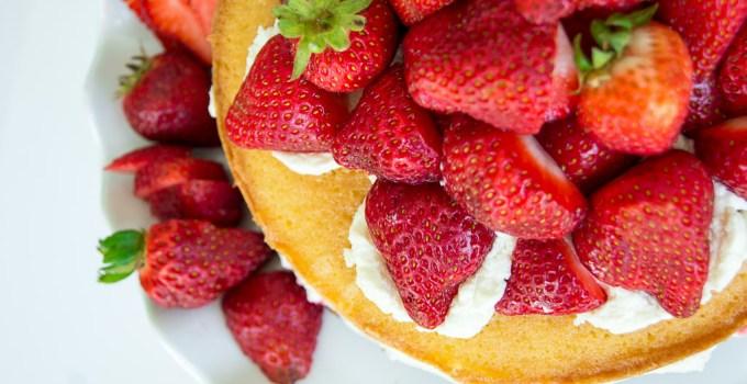 Victoria Sponge Cake with Balsamic Strawberries