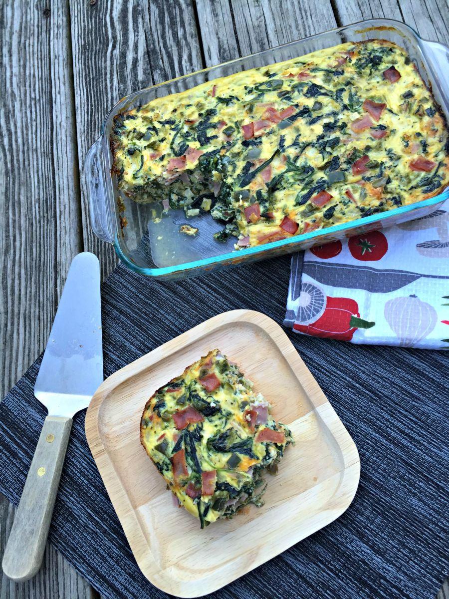 Ham and Vegetable Breakfast Casserole