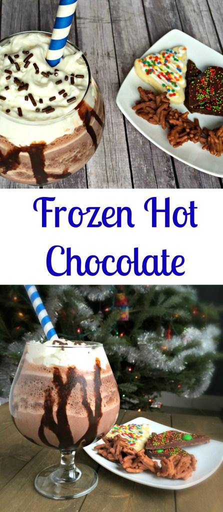 Frozen Hot Chocolate (aka chocolate shake) - Chocolate Slopes