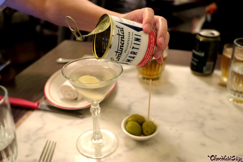 Martini at Continental Deli & Bistro, Newtown