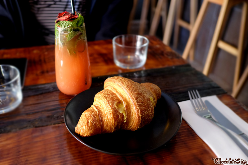 Salted egg custard croissant at Hoost, Surry Hills