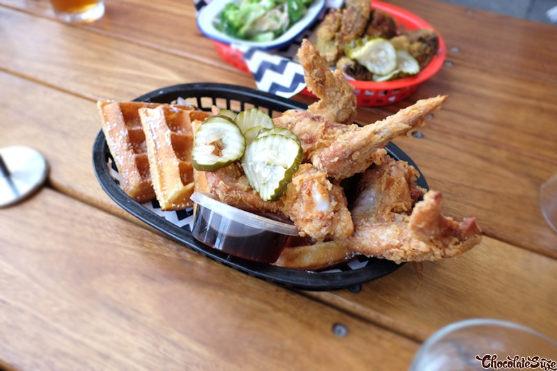 Fried Chicken and Waffles at Belles Hot Chicken, Barangaroo