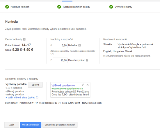 Google AdWords - STEP 3