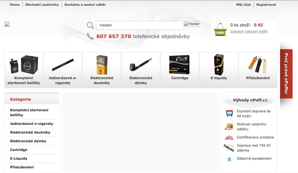 E-shop epuff