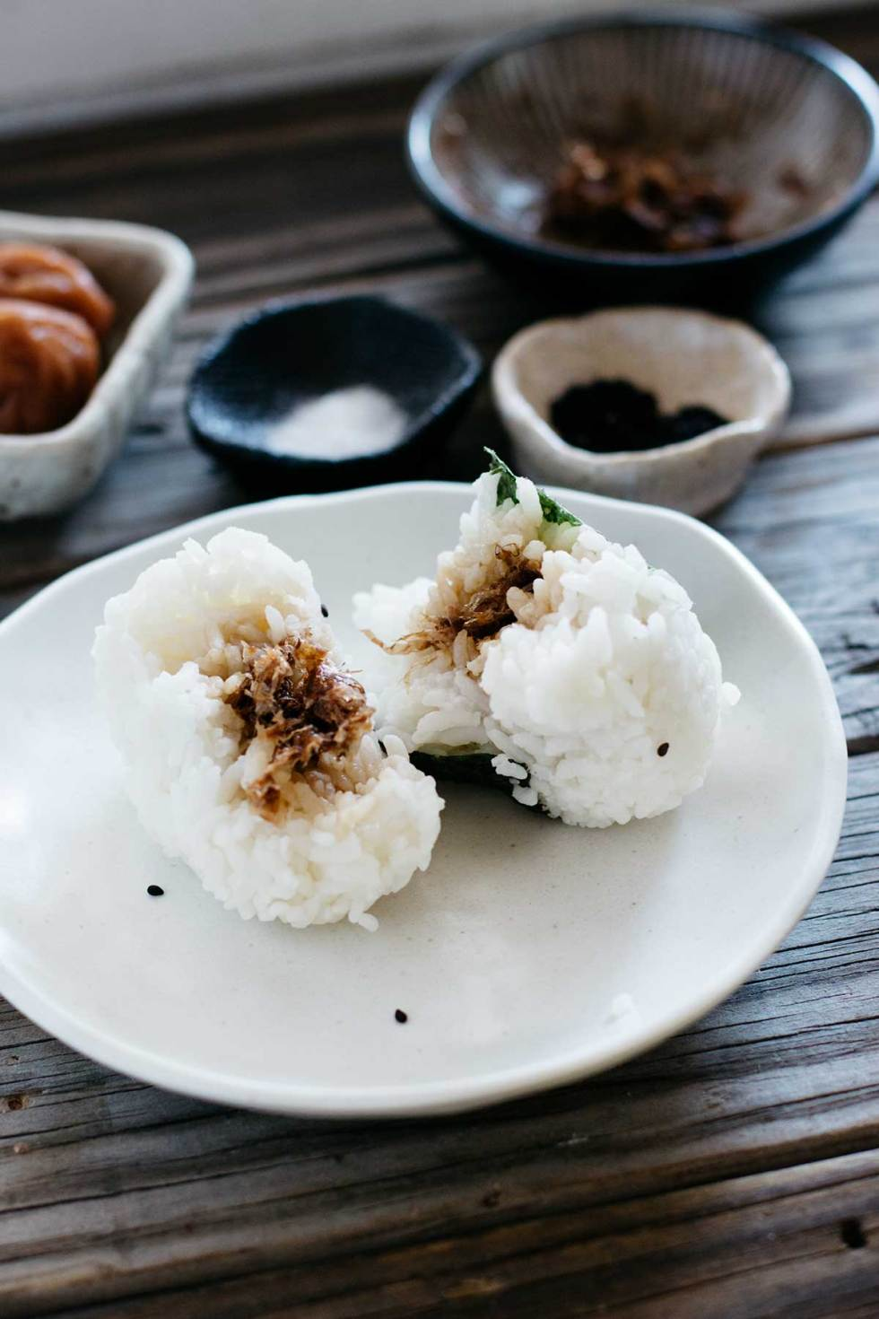how to cook japanese rice balls