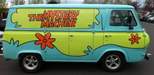 mystery machine or mystery car?