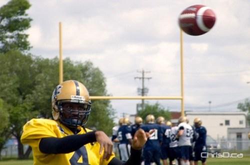 Winnipeg Blue Bombers Practice