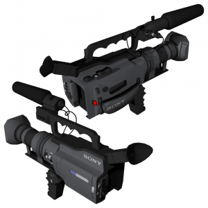 Sony video camera model created and textured by me using Maya.