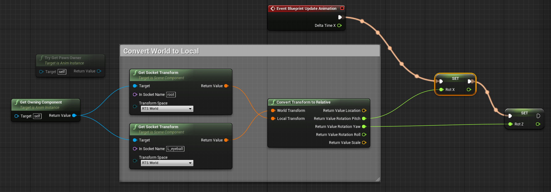 Stumbling toward awesomenesssimple runtime rigging in ue4 image13 malvernweather Gallery