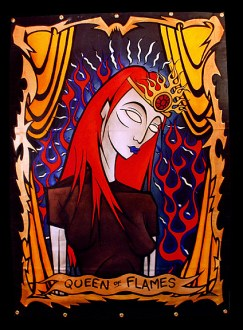 Queen of Flames painting by Chris Shaw, 1999
