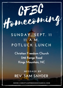 CFC Homecoming Flyer