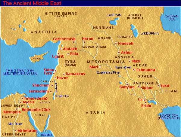 Ancient mideast map