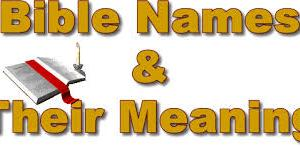 Bible Names and Meanings