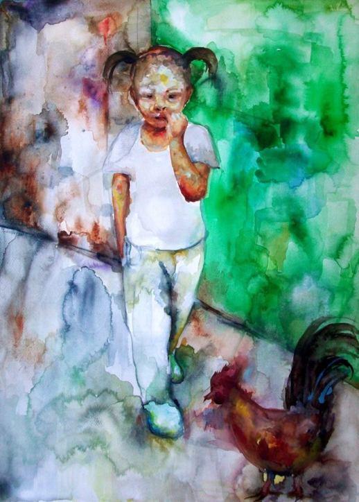 Participation in the International Biennial watercolour Castra 2015, Slovenia 50x70 cm, aquarelle, 2015 Second artwork for the exhibition