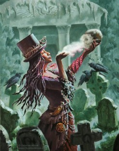 oil painting of a Voodoo Queen (Woman of Power) by Christine Mitzuk