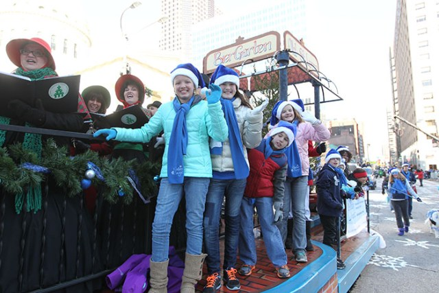 BierGarten Float at the 2013 Ameren Missouri Thanksgiving Day Parade.