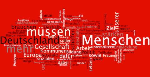 Wortwolke Wahlprogramm SPD BTW 2013 klein