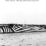 Dazzle camo HMS Argus (1918)