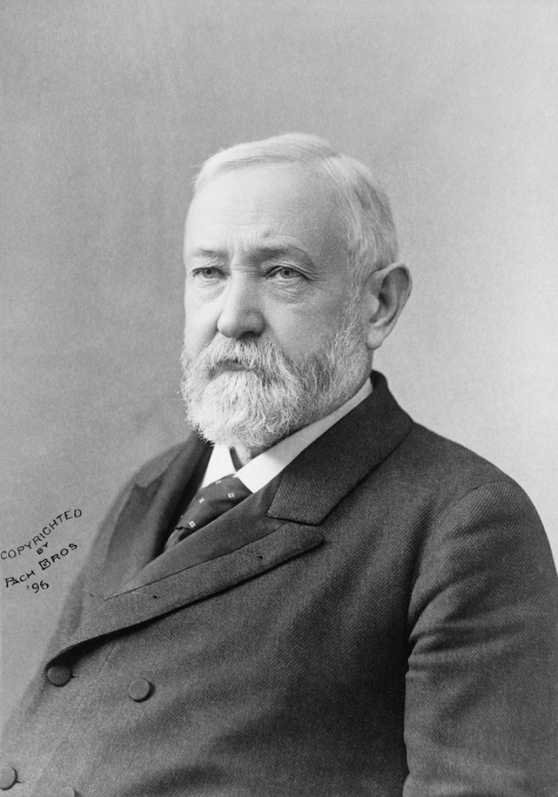 """I pity the man who wants a coat so cheap that the man or woman who produces the cloth or shapes it into a garment will starve in the process."" Benjamin Harrison, President of the U.S., 1889-1893"