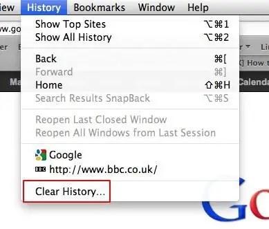 Clear Safari History Screenshot
