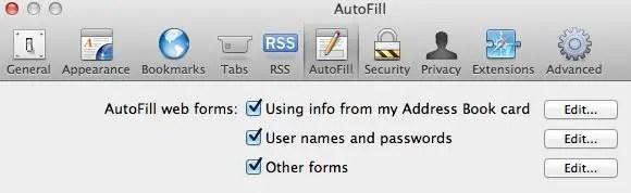 Disable Safari Autofill screenshot