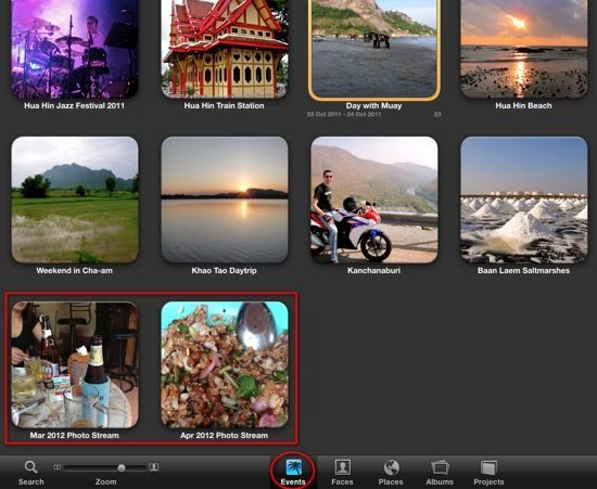 iPhoto Photo Stream Monthly Albums