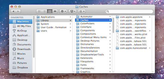 mac how to clear space from system