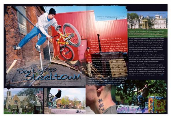 2-page Hamilton, Ontario scene report spread.