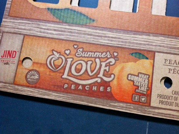 Jind Fruit Co. Summer Love Peaches box.