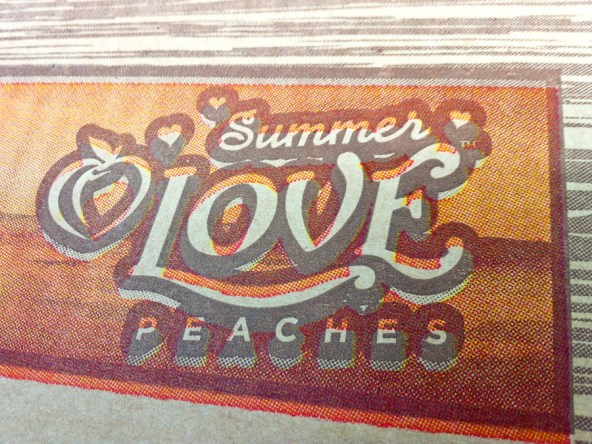 Jind Fruit Co. Summer Love Peaches mis-registration details.