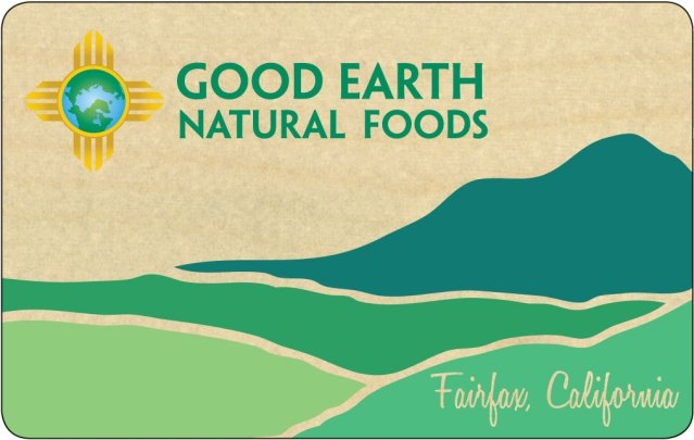 ChromaKit Graphic DesignGood Earth wooden gift card design