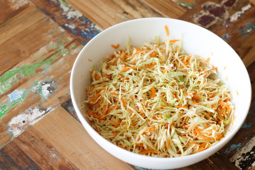 Simple Asian Coleslaw ☆ Cabbage Salad