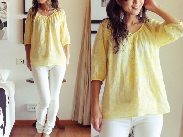 azure yellow shirt