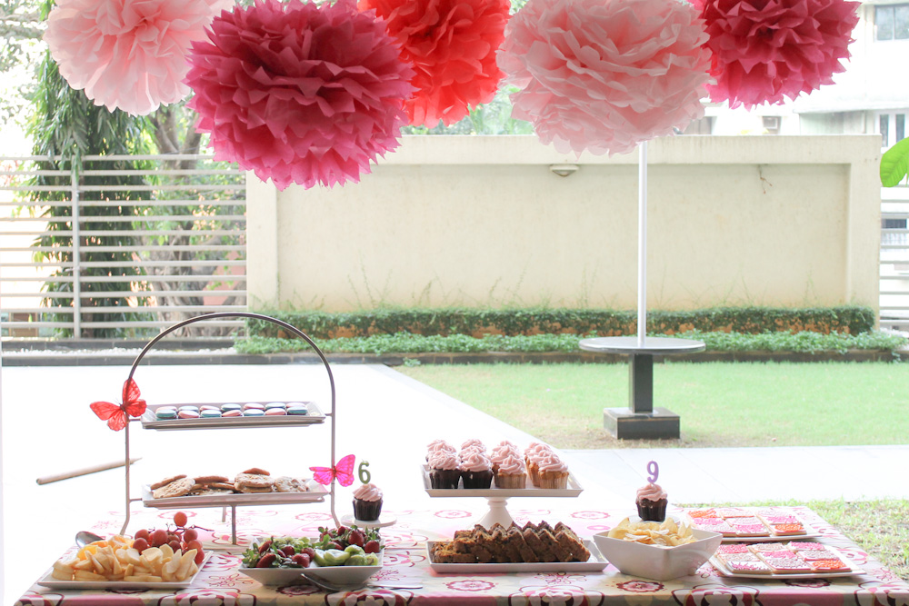 Pink Dessert Table For Bollywood Dance Party