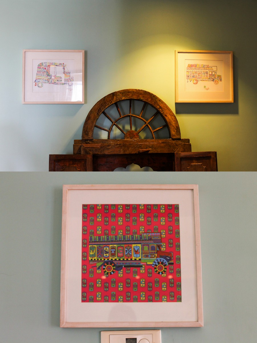 Indian Modern Art Framed2