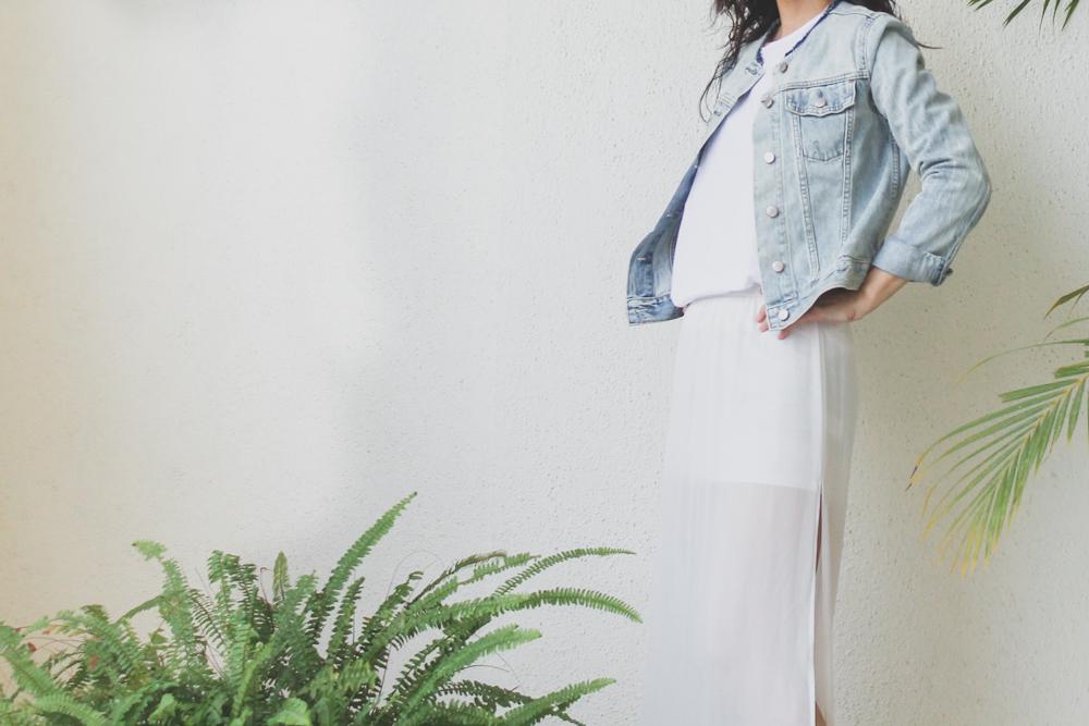 Monday Mode ☆ H&M Sheer Maxi Skirt & Gap Denim Jacket